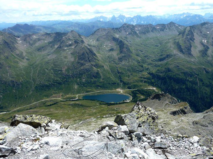 Panorama sul lago Obersee dalla vetta del Monte Almerhorn (2965 m.)