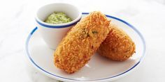 A perfect snack or starter, this smoked haddock fritter recipe from Josh Eggleton makes large crispy croquettes, with a golden breadcrumb coating and fluffy potato centre, served with a fiery horseradish mayonnaise. A delicious take on the classic fried fish recipe.