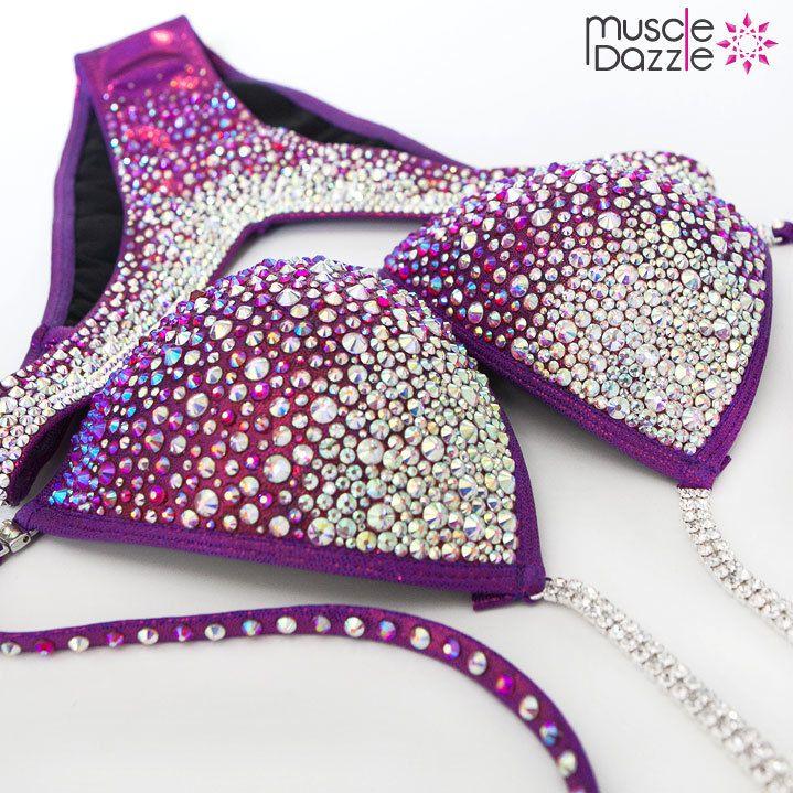 Mulberry Purple Figure Posing Suit