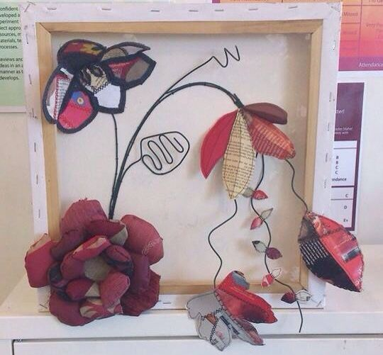 Ellie Cutler-Shepherd Piece I made with recycled materials  Former student of Lytham High