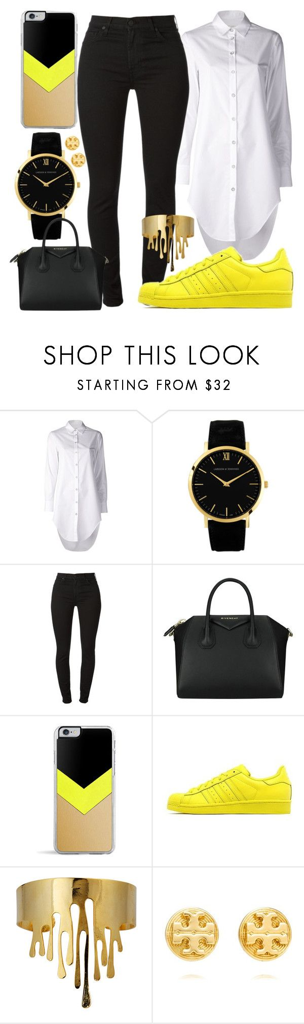 """434."" by tyra-bryant ❤ liked on Polyvore featuring rag & bone, Larsson & Jennings, 7 For All Mankind, Givenchy, Forever 21, adidas Originals, Eina Ahluwalia and Tory Burch"