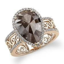 Chocolate diamond & rose gold ring