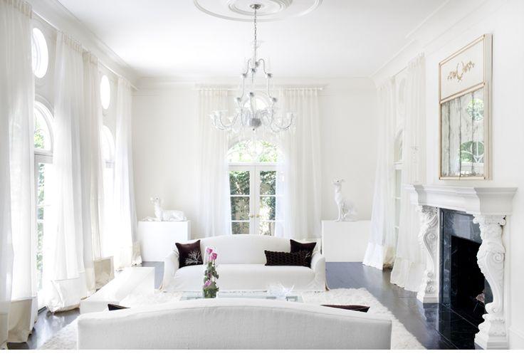VINTAGE & CHIC: decoración vintage para tu casa [] vintage home decor: Salones blancos [] White livingrooms