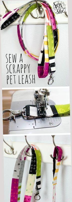 DIY Scrappy Pet Leash - free sewing tutorial — SewCanShe Free Daily Sewing Tutorials