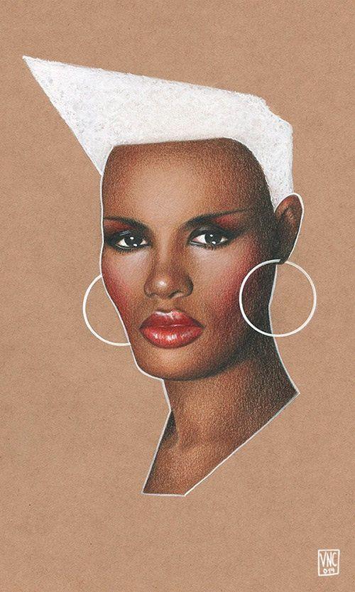 Grace Jones illustration.