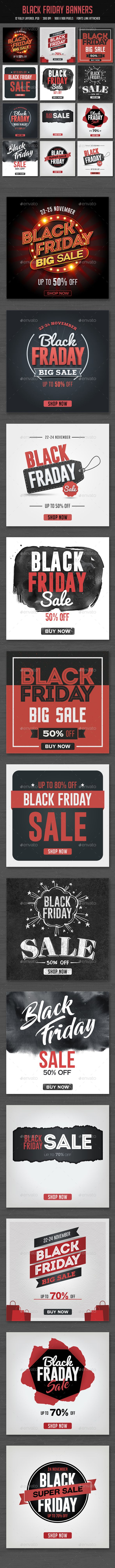 Black Friday Banners  — PSD Template #900x900 #black friday • Download ➝ https://graphicriver.net/item/black-friday-banners/18477377?ref=pxcr