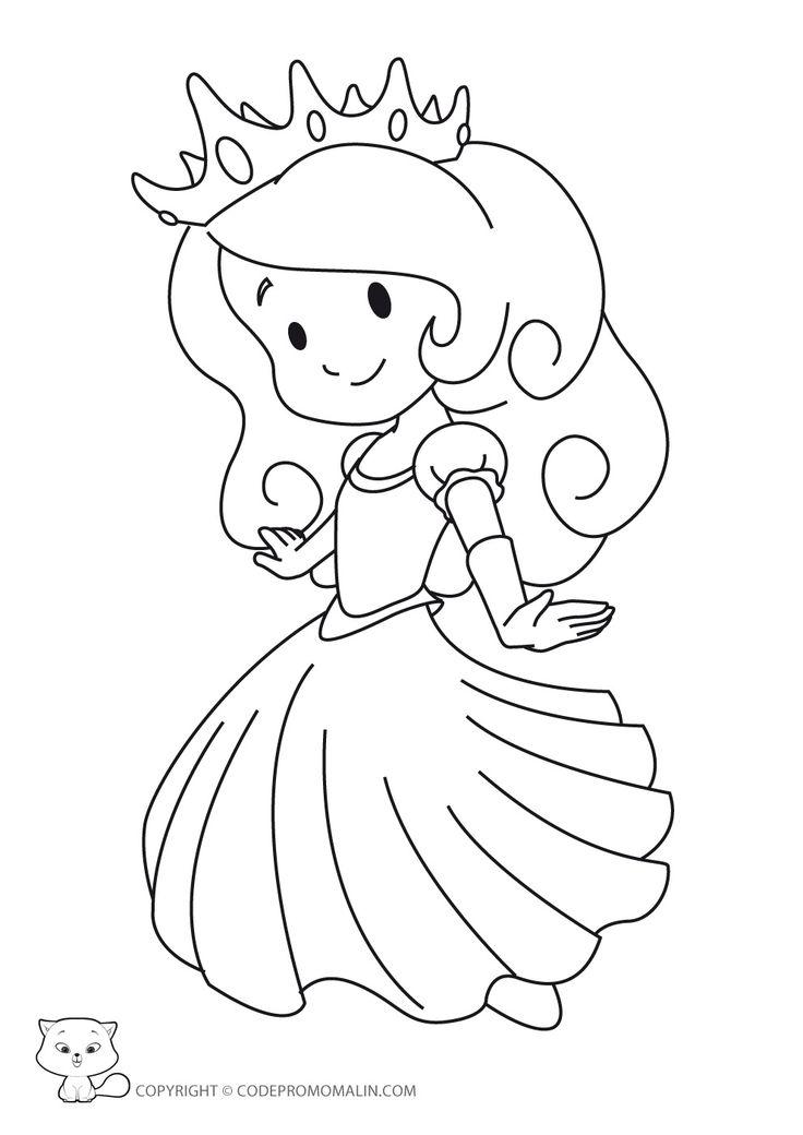 Coloriage Princesse à colorier - Dessin à imprimer