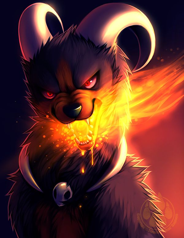 He brought hell with him, Houndoom.  By: Falvie @ DA