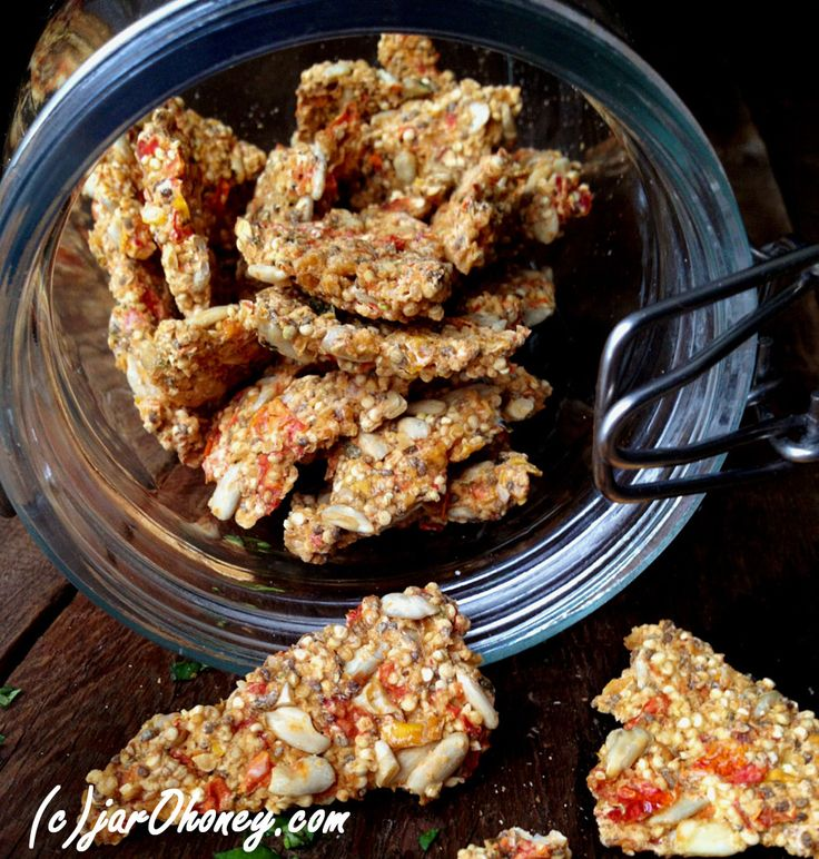 salsa crackers raw vegan. Need to figure out how to make these without a dehydrator...