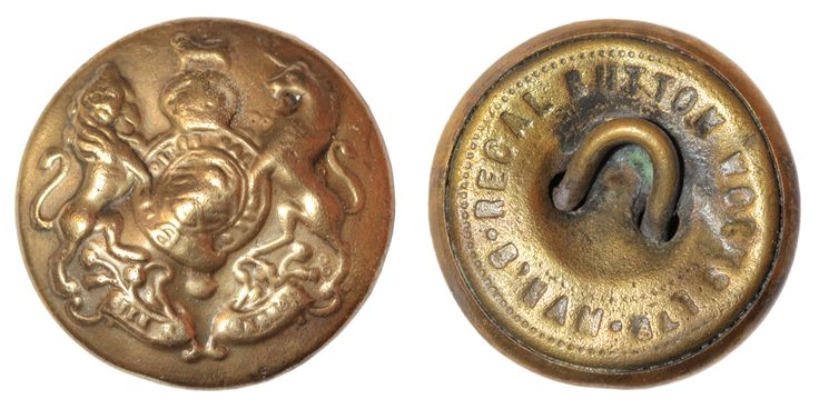 General Service Corps button. Estimated Date: 1936. Manufacturer: Regal Buttons Ltd., Birmingham. Material: copper alloy. Diameter: 25 mm. Weight: 5,4 g. Found: Lancashire 2016. #metaldetecting, # 0217
