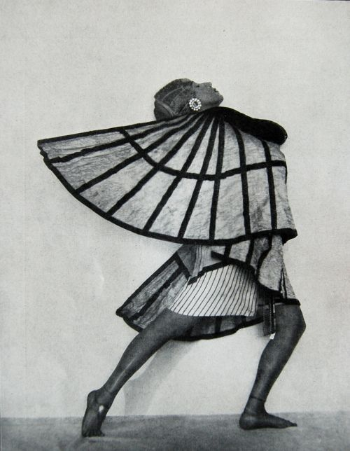 Ancient Egyptian dance costume with wings, 1920s.