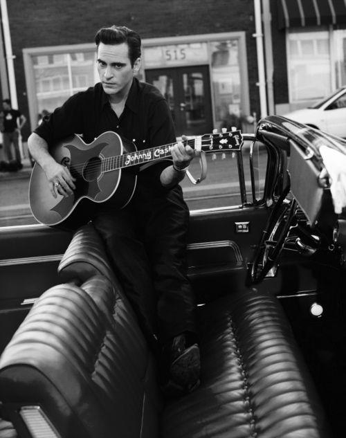 Joaquin Phoenix as Johnny Cash.