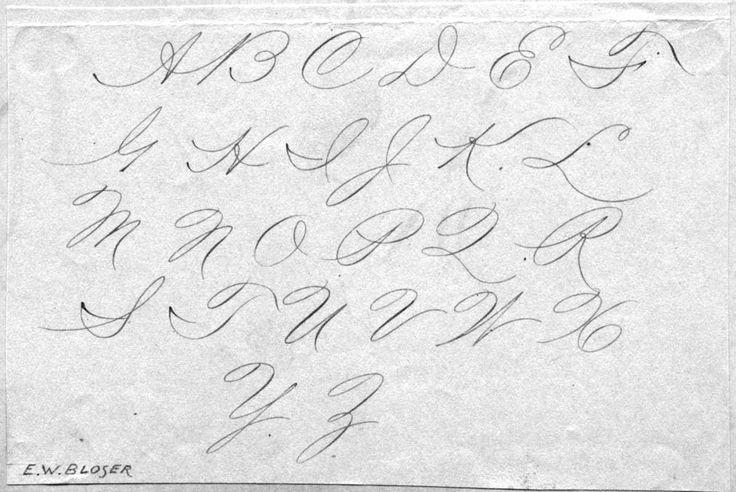 25+ unique Capital cursive letters ideas on Pinterest