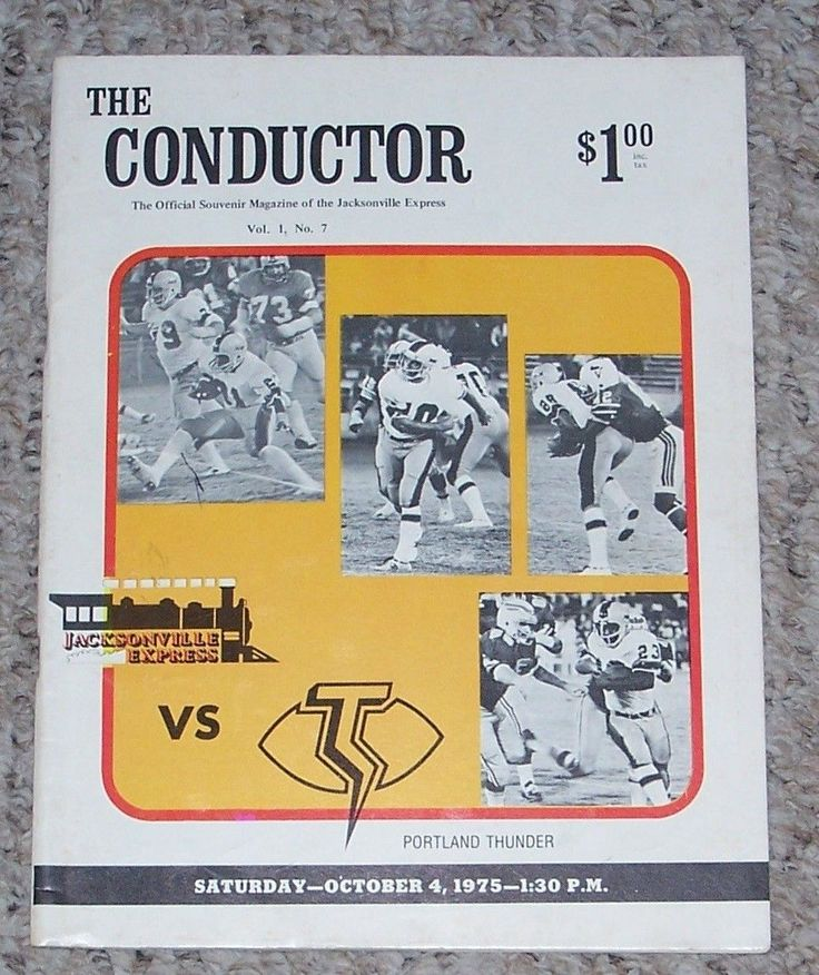 Jacksonville Express vs Portland Thunder Oct 4 1975 WFL football program | eBay