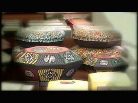 """HanJi (Korean Paper) Crafts 한지 공예 For when I am looking for """"Korean looking"""" decor"""