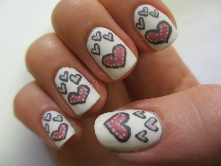 75 best heart nail art u as con corazones images on - Decoracion de unas fotos ...