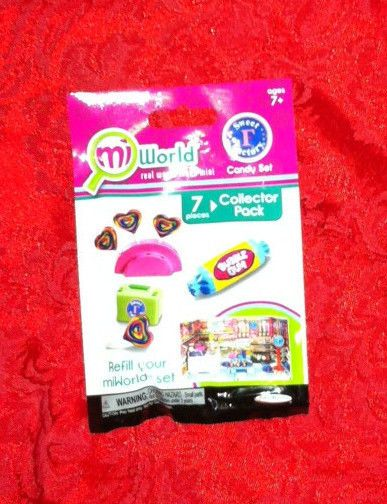 MiWorld Mini Playset Refills Sweet Factory 7pc Collector Pack~New~Mi World