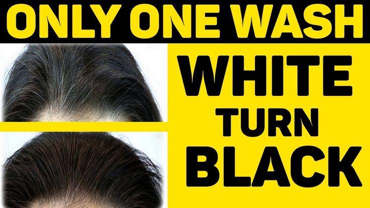 how to turn my black hair white