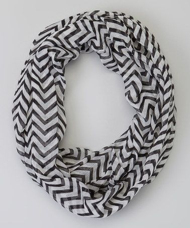 Take a look at this Black Zigzag Infinity Scarf by Sweet Indigo on #zulily today!