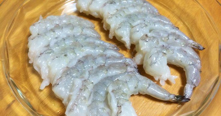 レシピじゃないけどエビ料理の下準備にどうぞ(^^)