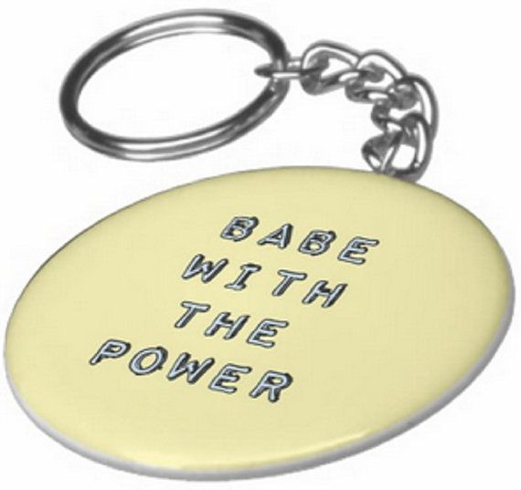 Babe With The Power Keychain Bowie by Accesorriesandetc on Etsy