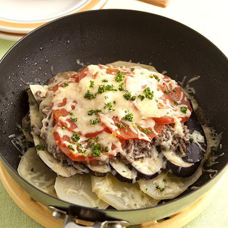 ひき肉となすのフライパングラタン   きじまりゅうたさんのグラタン・ドリアの料理レシピ   プロの簡単料理レシピはレタスクラブニュース