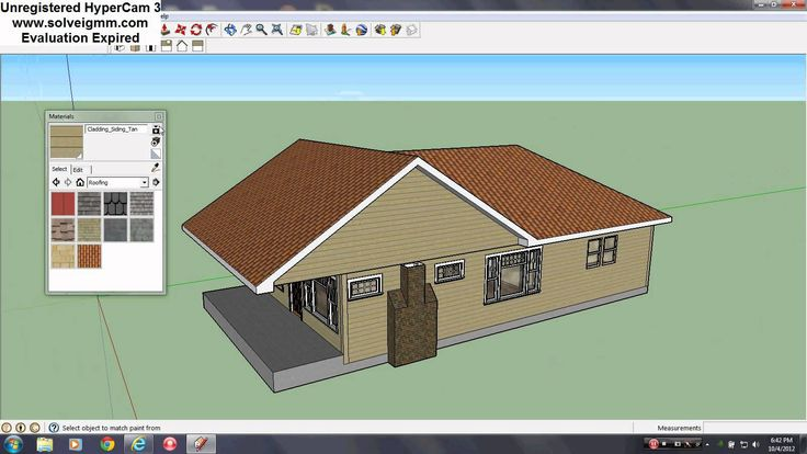 Sketchup Roof Tutorial Here, I demonstrate how I make and complete a typical roof in Sketchup. This particular roof has both a gable (2 gables) and a hip. Also, you learn how I make sofits and incorperate chimneys. I was going to create a dormer but I ran out of time. I didn't watch the clock and I had plans... BUT, I actually get to show you everything I intended to show you. Enjoy and I hope this helps.