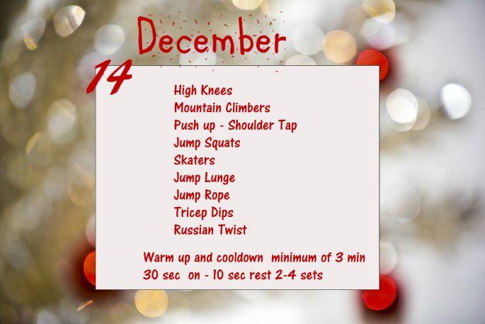 December Fitness Challenge - Day 14