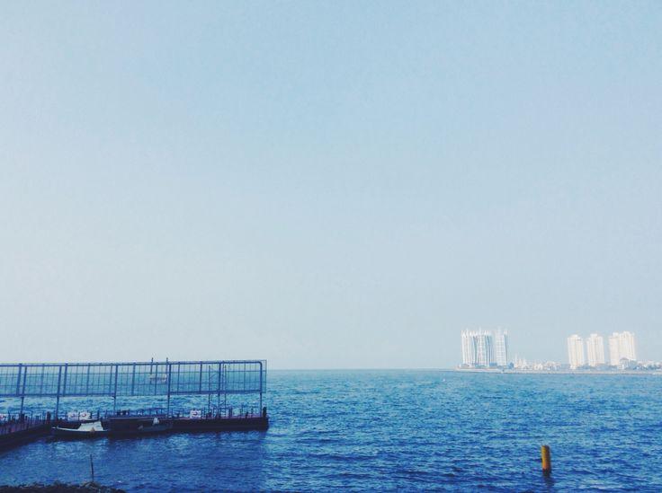 Blue sky so that sea - Baywalk - North Jakarta