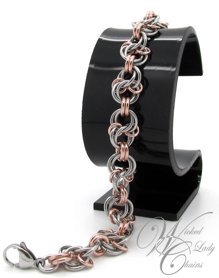 Celtic Spiral Knot in Stainless Steel and Bronze