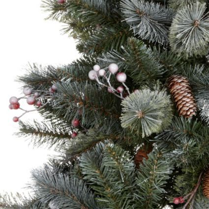 7.6ft Pre-Decorated Valberg Frosted Christmas Tree: Image 2