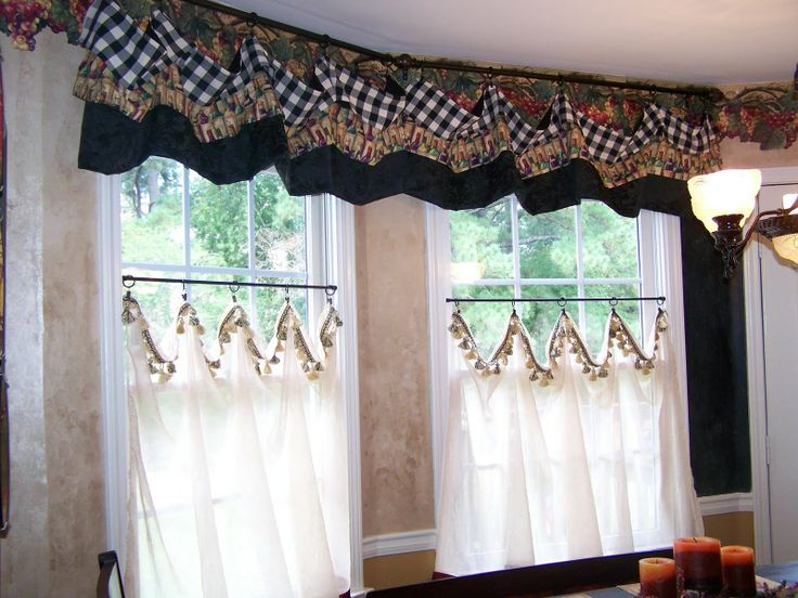 cottage ruffled mason curtain com set amazon valances home jars slp curtains naturally long and valance inch kitchen tiers swag