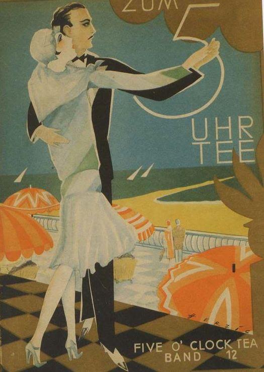 Sheet Music Cover By Willy Herzig 1894 1978 Zum 5 Uhr