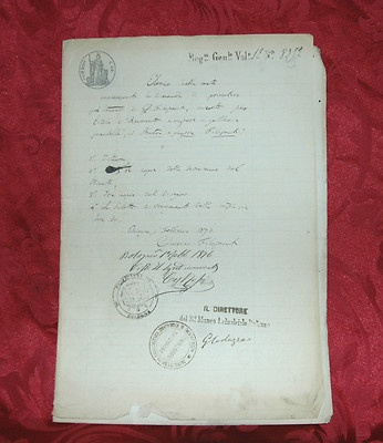 Brevetto Originale Aratro a Vapore Filopanti 1876 con autografi Filigrana Savoia    Prezzo:EUR 980,00  Compralo SubitoCompralo Subito