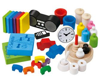Miniature set household produkte/kleine_welt/puppenhauszubehoer/miniaturen_set_haushalt