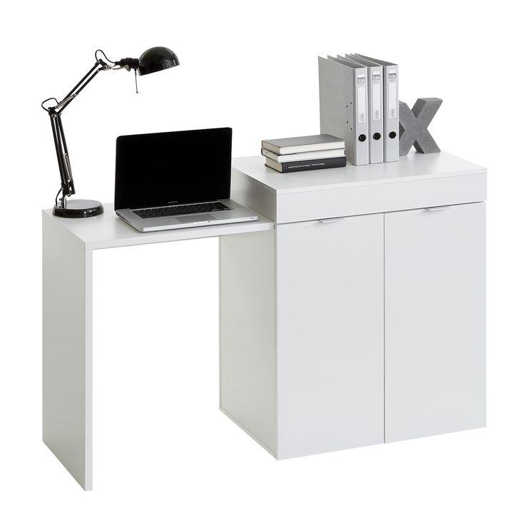 Psací stůl STRETCH 2 bílý - Psací a PC stoly - IDEA nábytek