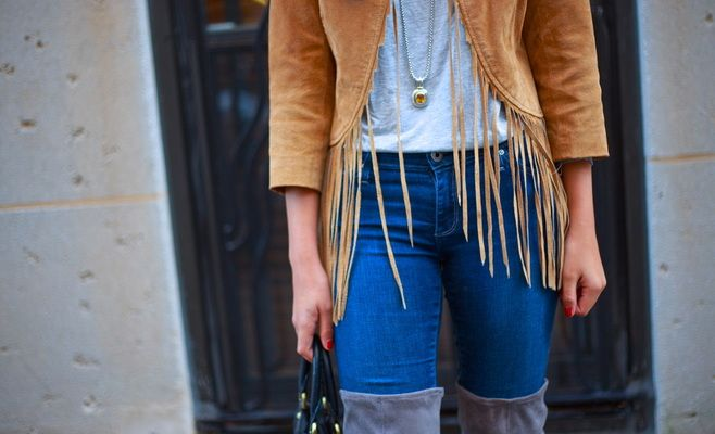 the line on this jacket is gorgeous with the fringe!