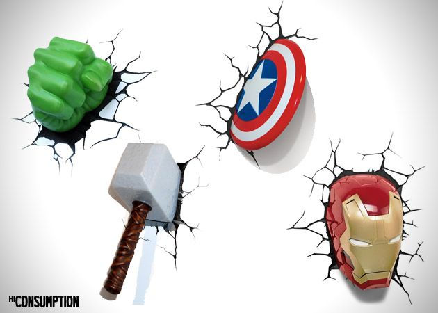 Light1 Awesome Avengers Wall Lights For Your Home