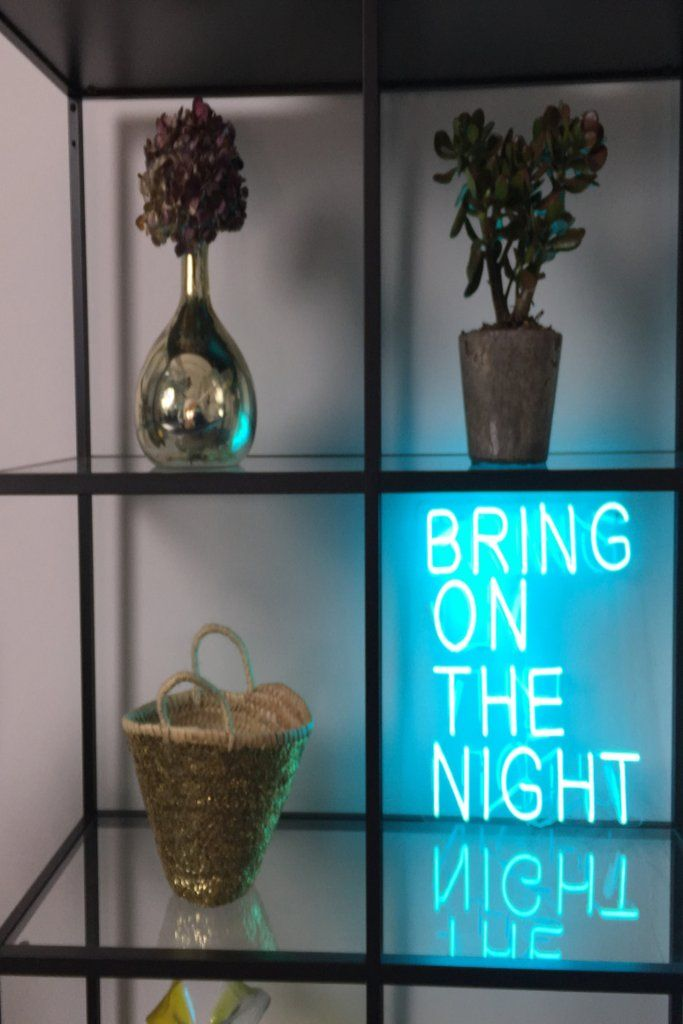 """""""Bring On The Night"""" Neon Sign"""