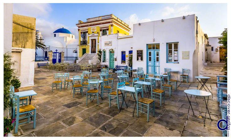 At Pano Piazza of Chora you will find St Athanasius cathedral and the neoclassical Town Hall building - Serifos, Cyclades. | Στην Πάνω Πιάτσα της Χώρας θα βρείτε τον μητροπολιτικό ναό του Αγίου Αθανασίου και το νεοκλασσικό κτίριο του Δημαρχείου - Σέριφος, Κυκλάδες. Μάθετε περισσότερα στο: http://www.discover-serifos.com/el/anakalupste/aksiotheata/simeia-endiaferontos/pano-piatsa