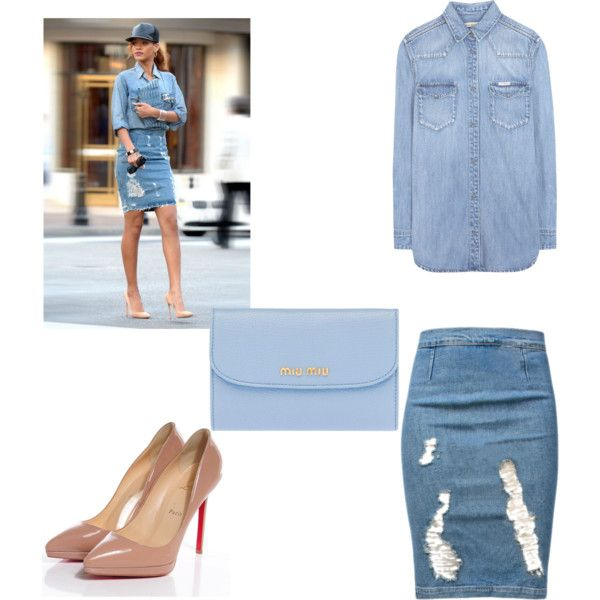 Rihanna's Style by noemie1804 on Polyvore featuring Calvin Klein Jeans, Frame Denim, Christian Louboutin and Miu Miu