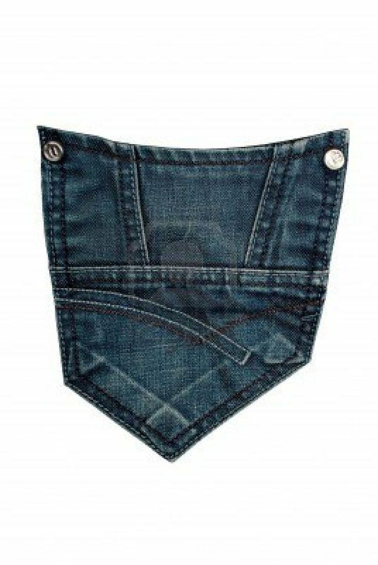 jeans back pocket isolated Stock Photo - 9137244