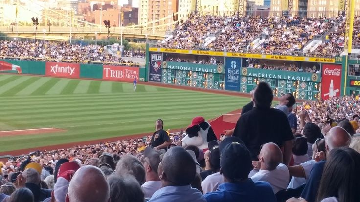 Chick-fil-A Cow spotted at Pirates - Cubs game