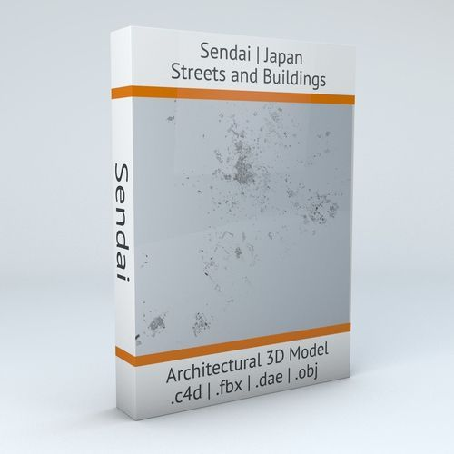 Sendai Streets and Buildings | 3D Model