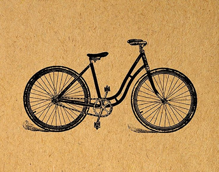 Womens Bicycle Wall Art Antique Bicycle Cycling Bike Poster or Print with a Vintage Light Brown Paper Style - Office Bedroom Living Room Home Decor (8 x 10 Inches) - $15.9900