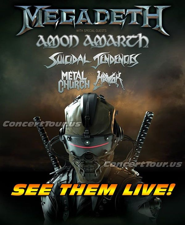 Don't miss your chance to see MEGADETH and SUICIDAL TENDENCIES live on stage!