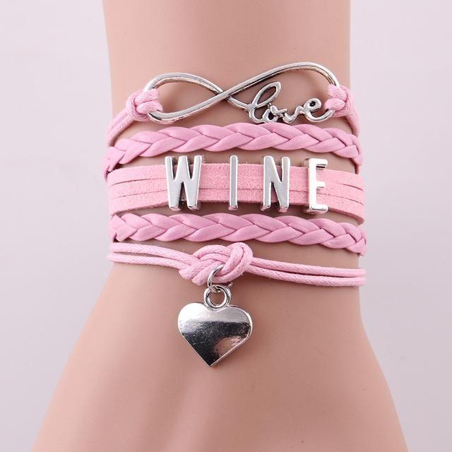 Infinity Love WINE Bracelet – Wine O'Clock Somewhere  #wine #jewelry #moms #Christmas #Gift