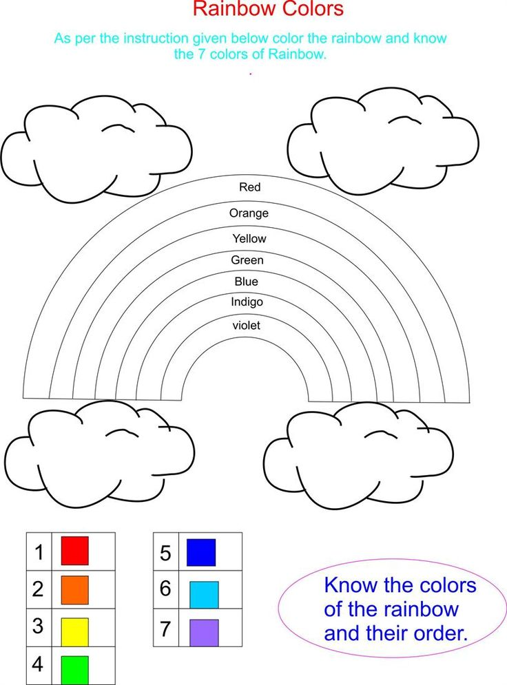 Stunning Color Rainbow A And An Worksheets For Kids Printable ...