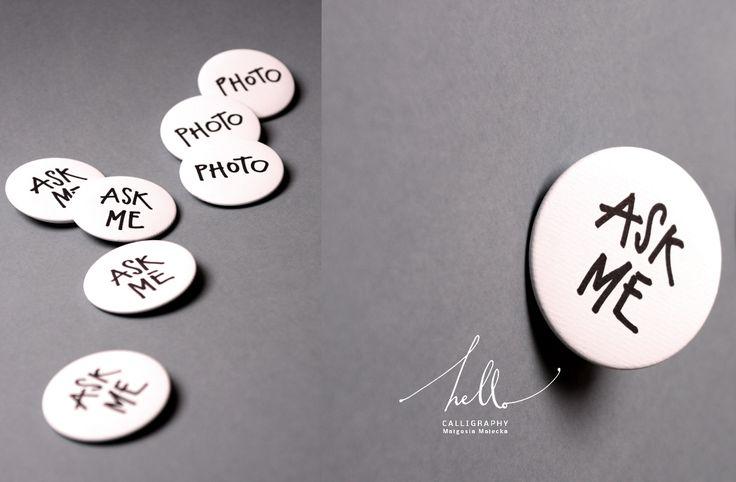 buttons to help by .hello. calligraphy Małgosia Małecka