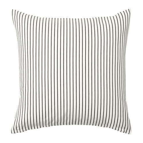 Ingalill Cushion Cover White Dark Gray Stripe In 2019